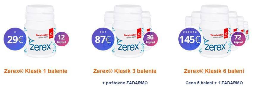 Zerex Klasik - balenia, ceny