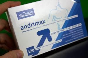Balenie tabletiek na erekciu Andrimax z predu