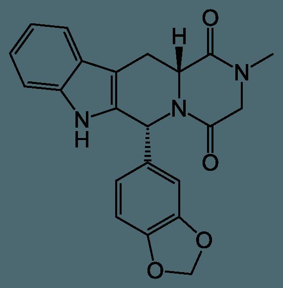 Chemický vzorec účinnej látky Cialisu - Tadalafilu