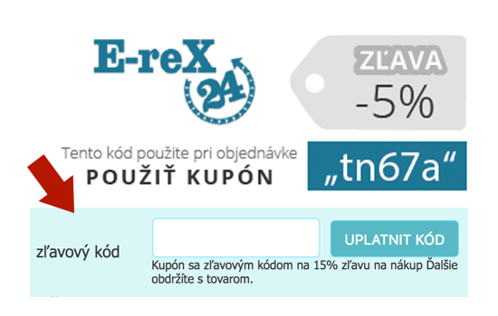 E-reX 24 zľavový kupón