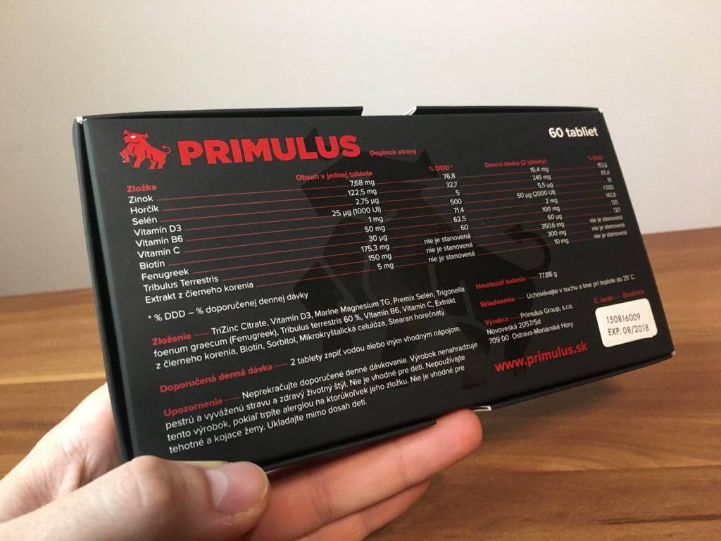 Primulus - zloženie