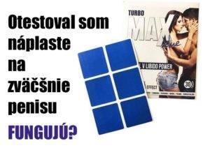 Turbo max blue náplaste - recenzia