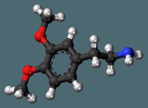 Chemický vzorec dopamínu