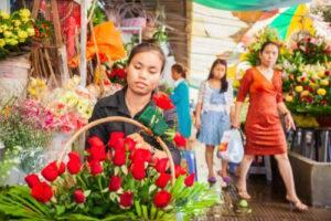 Dievčatá v Phnom Pénh sú krásne