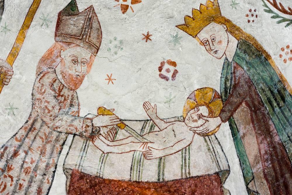Obriezka Ježiša - stredoveká freska