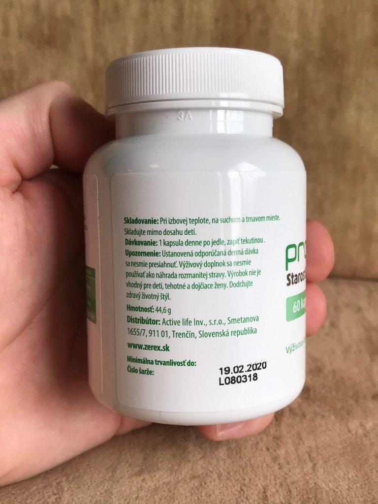 Prostanax - dávkovanie prípravku