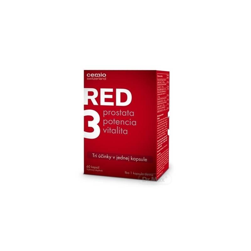 Cemio RED3 recenzia 60 kapsúl