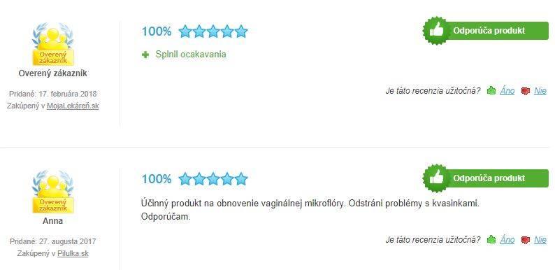 Vagilact tablety - skúsenosti a recenzie Heureka