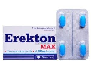 Erekton MAX - modré tabletky, výživový doplnok na erekciu