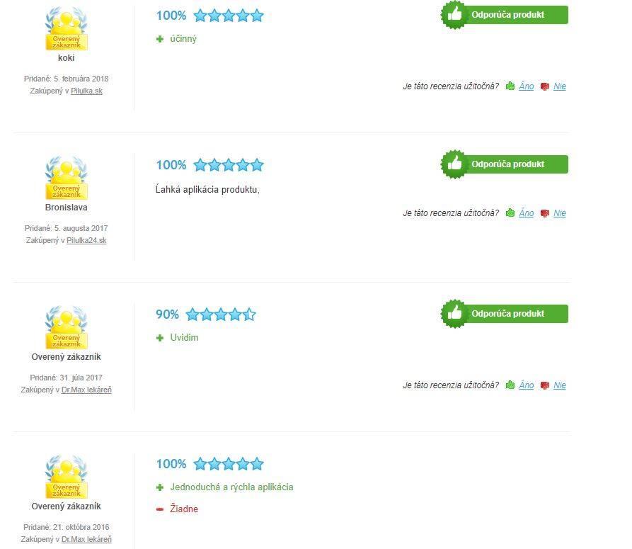 Rosalgin Easy - hodnotenie užívateľov, Heureka