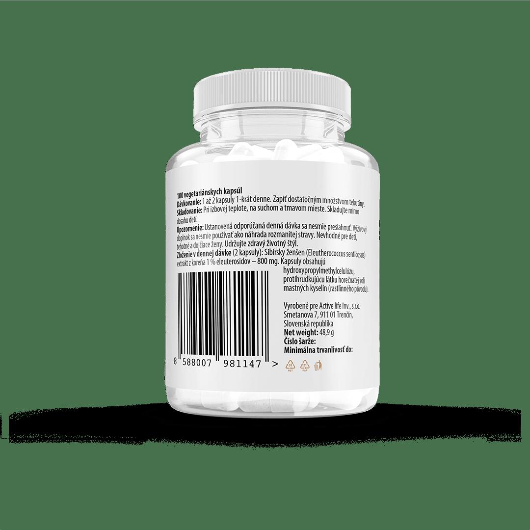 Zerex Sibírsky ženšen - zloženie,dávkovanie a iné upozornenia